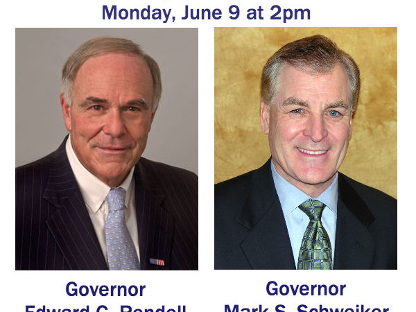 Live Webcast June 9 with Governors Rendell, Schweiker